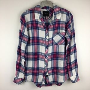 Rails Flannel Shirt XS Plaid Long Sleeve Rayon